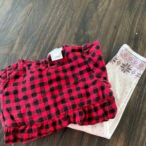 RALPH LAUREN GIRL 18m plaid outfit!!